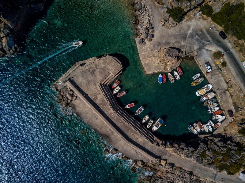 Crete, Greece, Sougia harbour